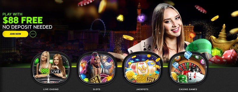 $88 free bonus code at 888casino