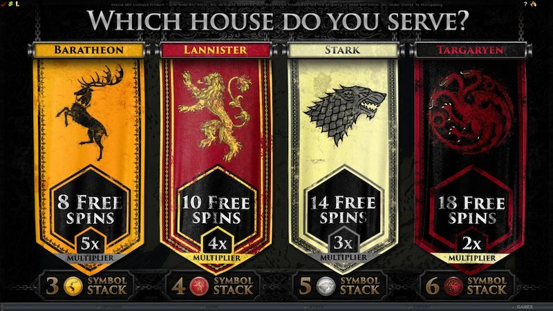 Try Game of Thrones from Microgaming