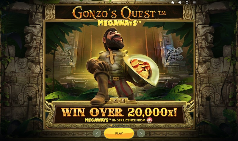 Play Gonzo's Quest Megaways from Red Tiger Gaming