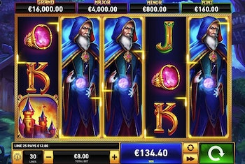 Blue Wizard Slot from Playtech