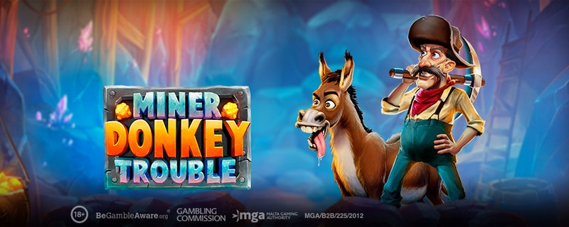 Collect Gems in Miner Donkey Trouble