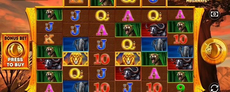 Safari Gold Megaways Slot from Blueprint Gaming