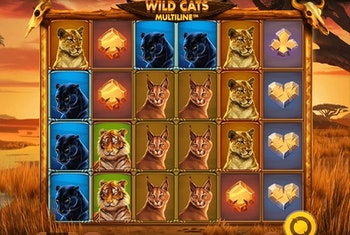 Wild Cats Multiline Slot from Red tiger