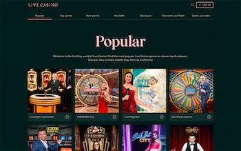 LiveCasino.com Spel