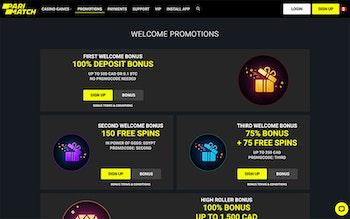 Parimatch Casino Bonus