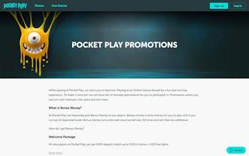 Pocket Play Casino Bonus